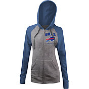 5th & Ocean Women's Buffalo Bills Tri-Blend Grey Full-Zip Hoodie