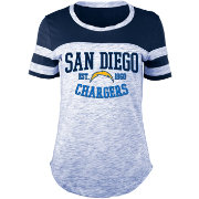 5th & Ocean Women's San Diego Chargers Space Dye Navy T-Shirt
