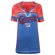 5th & Ocean Women's New York Giants Burnout Royal V-Neck T-Shirt