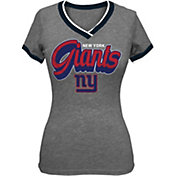 5th & Ocean Women's New York Giants Tri-Blend Grey T-Shirt