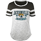5th & Ocean Women's Jacksonville Jaguars Space Dye Black T-Shirt