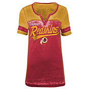 5th & Ocean Women's Washington Redskins Burnout Red V-Neck T-Shirt