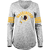 5th & Ocean Women's Washington Redskins Space Dye Black Long Sleeve Shirt
