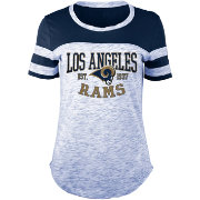 5th & Ocean Women's Los Angeles Rams Space Dye Navy T-Shirt