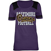 5th & Ocean Baltimore Ravens Tri-Blend Purple T-Shirt