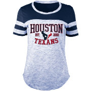 5th & Ocean Women's Houston Texans Space Dye Navy T-Shirt