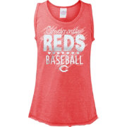 5th & Ocean Youth Girls' Cincinnati Reds Baseball Red Tri-Blend Tank