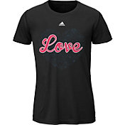 adidas Girls' True Love Graphic V-Neck T-Shirt