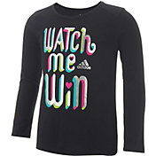 adidas Little Girls' Watch Me Win Long Sleeve Shirt