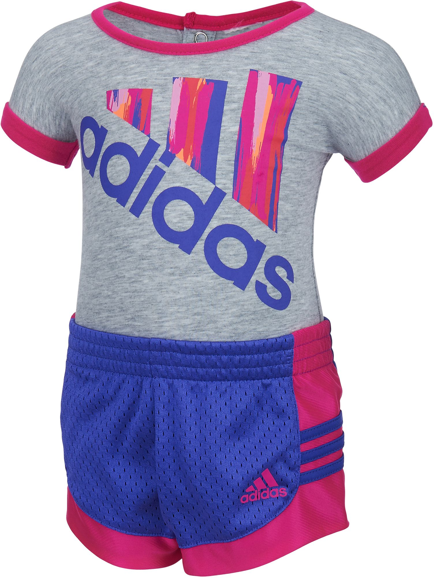 adidas Infant Girls Performance Bodysuit and Shorts Set DICKS Sporting Goods