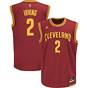 adidas Men's Cleveland Cavaliers Kyrie Irving #2 Road Burgundy Replica Jersey