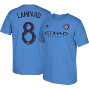 adidas Men's New York City FC Frank Lampard #8 Light Blue Player T-Shirt