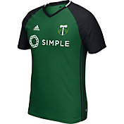 adidas Men's Portland Timbers Green/Black Training Top