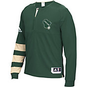 adidas Men's Milwaukee Bucks On-Court Green Long Sleeve Shooting Shirt