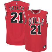 adidas Men's Chicago Bulls Jimmy Butler #21 Road Red Replica Jersey