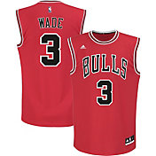 adidas Men's Chicago Bulls Dwyane Wade #3 Road Red Replica Jersey
