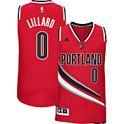 adidas Men's Portland Trail Blazers Damian Lillard #0 Alternate Red Swingman Jersey