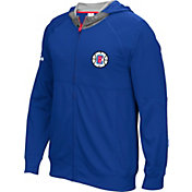 adidas Men's Los Angeles Clippers Pre-Game Royal Full-Zip Hoodie