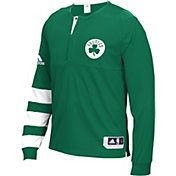 adidas Men's Boston Celtics On-Court Kelly Green Long Sleeve Shooting Shirt