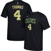 adidas Men's Boston Celtics Isaiah Thomas #4 climalite Black T-Shirt