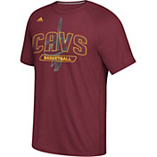 adidas Men's Cleveland Cavaliers climalite Burgundy T-Shirt