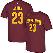 adidas Men's Cleveland Cavaliers LeBron James #23 Burgundy T-Shirt