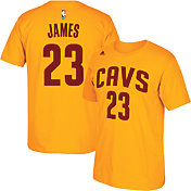 adidas Men's Cleveland Cavaliers LeBron James #23 HD-Print Gold T-Shirt