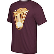adidas Men's Cleveland Cavaliers climalite Burgundy Performance T-Shirt