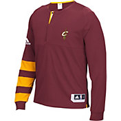 adidas Men's Cleveland Cavaliers On-Court Burgundy Long Sleeve Shooting Shirt