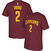 adidas Men's Cleveland Cavaliers Kyrie Irving #2 Burgundy T-Shirt