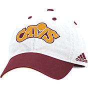 adidas Men's Cleveland Cavaliers Slouch White Adjustable Hat