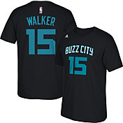 adidas Men's Charlotte Hornets Kemba Walker #15 Black T-Shirt