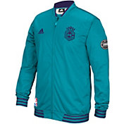 adidas Men's Charlotte Hornets On-Court Teal Warm-Up Full-Zip Jacket