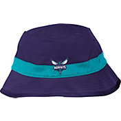 adidas Men's Charlotte Hornets Striped Purple Bucket Hat