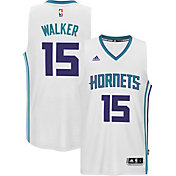 adidas Men's Charlotte Hornets Kemba Walker #15 Home White Swingman Jersey