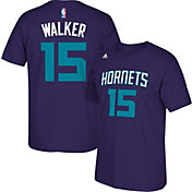 adidas Men's Charlotte Hornets Kemba Walker #15 Purple T-Shirt