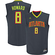 adidas Men's Atlanta Hawks Dwight Howard #8 Alternate Grey Replica Jersey