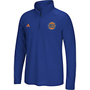 adidas Men's New York Knicks climalite Royal Ultimate Quarter-Zip Shirt