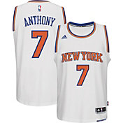 adidas Men's New York Knicks Carmelo Anthony #7 Home White Swingman Jersey