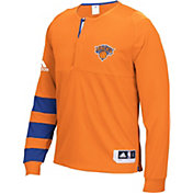 adidas Men's New York Knicks On-Court Orange Long Sleeve Shooting Shirt