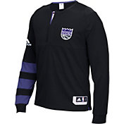 adidas Men's Sacramento Kings On-Court Black Long Sleeve Shooting Shirt