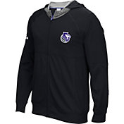 adidas Men's Sacramento Kings Pre-Game Black Full-Zip Hoodie
