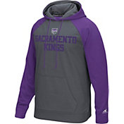 adidas Men's Sacramento Kings climawarm Tip-Off Grey/Purple Hoodie