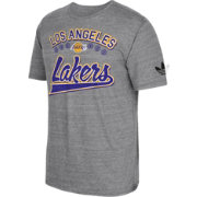 adidas Originals Men's Los Angeles Lakers Grey Tri-Blend T-Shirt