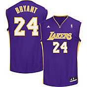 adidas Men's L.A. Lakers Kobe Bryant #24 Road Purple Replica Jersey