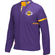 adidas Men's Los Angeles Lakers On-Court Purple Jacket