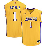 adidas Men's Los Angeles Lakers D'Angelo Russell #1 Home Gold Replica Jersey