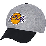 adidas Men's Los Angeles Lakers Structured Grey Flex Hat