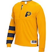 adidas Men's Indiana Pacers On-Court Gold Long Sleeve Shooting Shirt