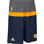 adidas Men's Indiana Pacers Pre-Game Navy Shorts